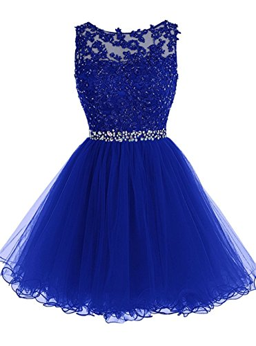 c6e493a92fb Huifany Women s Short Lace Homecoming Dresses Beaded Cocktail Prom Party  Gowns
