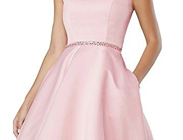cf872e6730 Off Shoulder Beaded Homecoming Dress 2018 Satin A-line Short Cocktail Prom  Gown