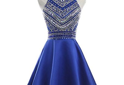 c278335efe HEIMO Women s Sparkly Beaded Homecoming Dresses Sequined Prom Gowns Short  H212