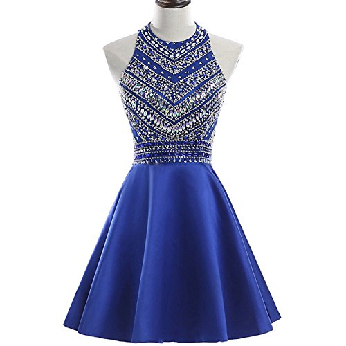 b7845f4924a HEIMO Women s Sparkly Beaded Homecoming Dresses Sequined Prom Gowns Short  H212